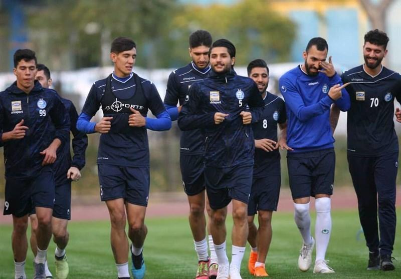 حضور بازیکنان استقلال در تمرین پس از اعتصاب