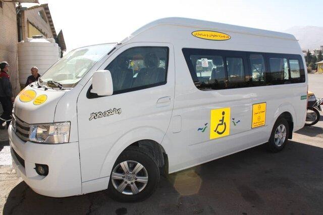 رونمایی از سامانه ویژه حمل و نقل جانبازان و معلولان در شیراز
