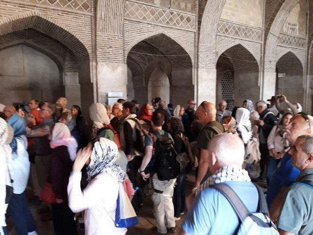 مسجد جامع اصفهان مملو از گردشگر خارجی