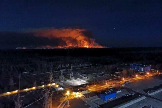 افزایش سطح تشعشعات در پی ادامه آتش سوزی در نزدیکی نیروگاه چرنوبیل