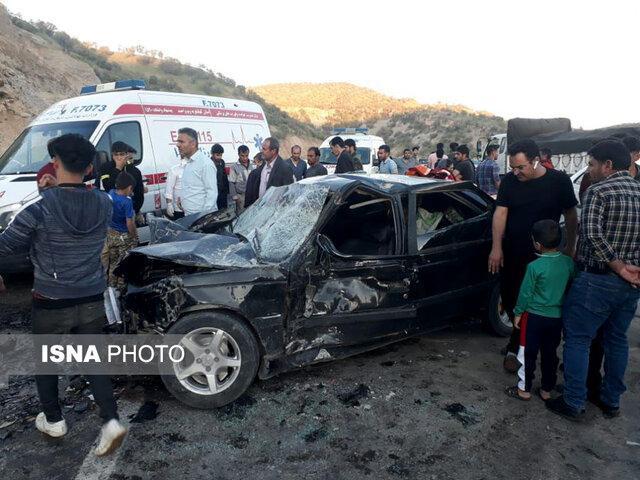 یک فوتی و 5 مصدوم در پی برخورد پراید و پژو در محور یاسوج- اصفهان