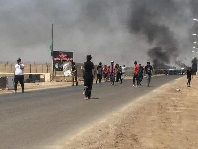 چادرهای تحصن کنندگان در جنوب عراق به آتش کشیده شد