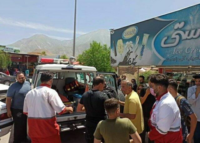 سقوط یک توریست از ارتفاعات تفرجگاه آسیاب خرابه