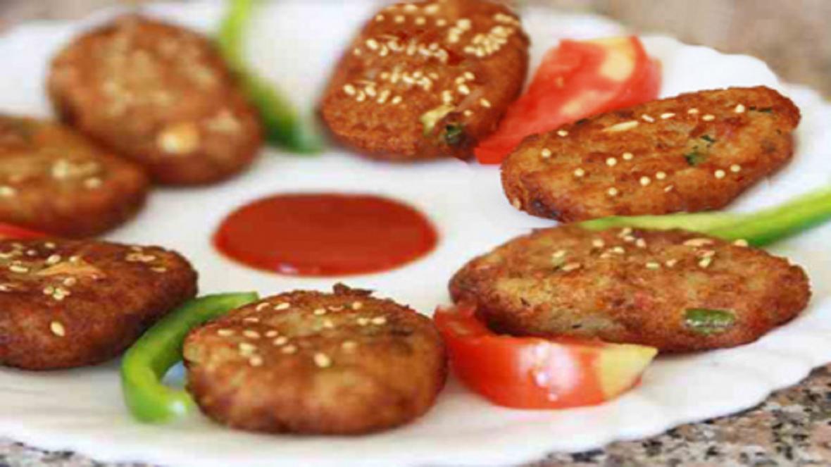 شامی مرغ کنجدی ساده و خوشمزه