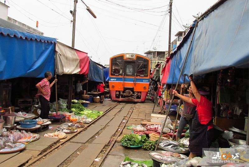 راهنمای بازدید از بازار ریلی مائه کلونگ در بانکوک، عکس