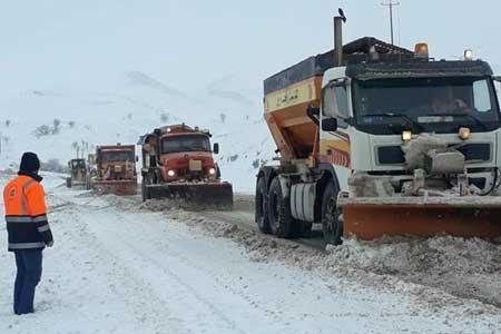 بارش برف و باران در جاده های 18 استان ، 5 جاده مسدود است