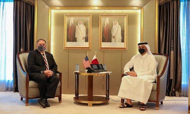 گفتگوی پمپئو و وزیر خارجه قطر درباره بحران شورای همکاری خلیج فارس