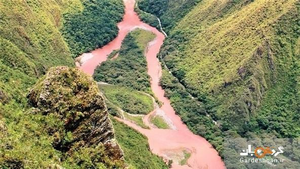 رودخانه سرخ؛ رودخانه ای به رنگ خون در پرو ، عکس