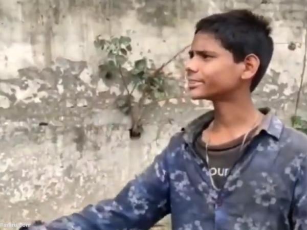 (ویدئو) ضرب و شتم پسر مسلمان توسط یک هندو