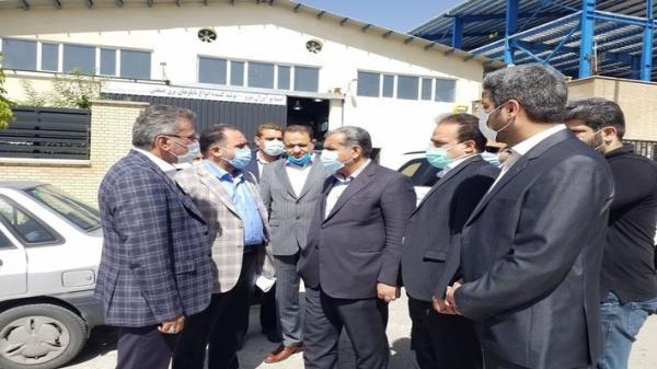 بازدید استاندار قزوین از چند واحد صنعتی