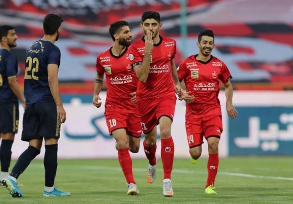 لیگ برتر فوتبال، پرسپولیس برنده نیمه ای که 3 گل داشت
