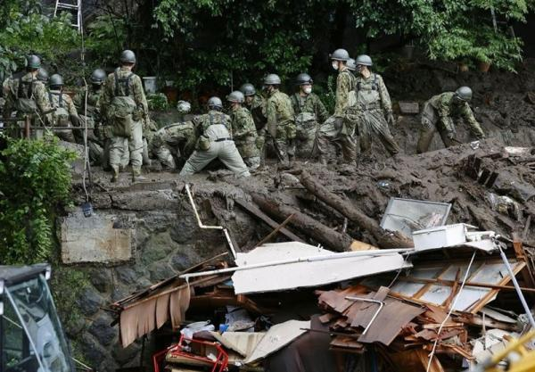بی اطلاعی از شرایط 24 مفقود در رانش زمین ژاپن