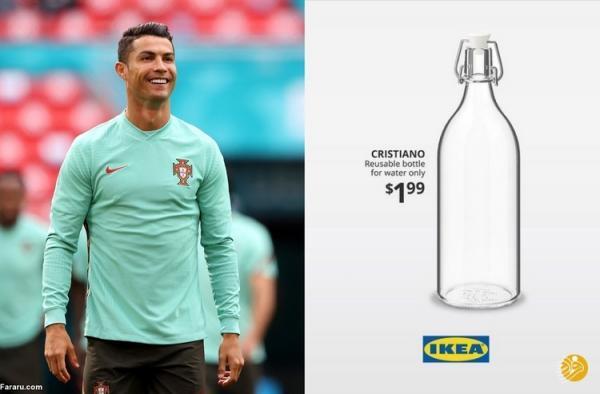 بطری آب رونالدو به بازار آمد!