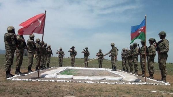 رزمایش مشترک جمهوری آذربایجان و ترکیه در منطقه لاچین