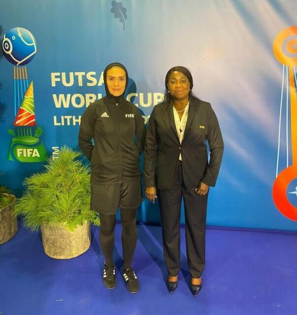 ملاقات دبیرکل فیفا با داور زن ایرانی در جام جهانی فوتسال